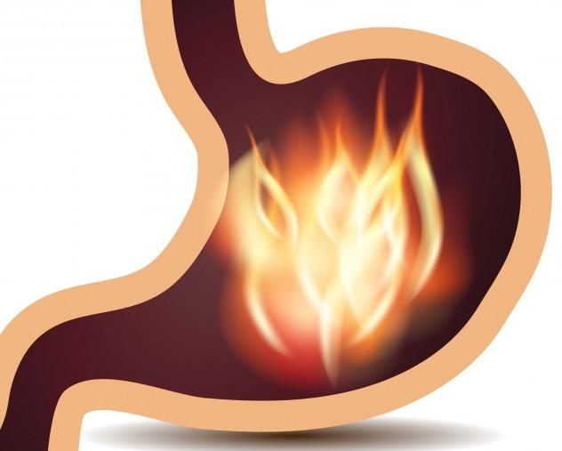 У больного желудок печет как от огня