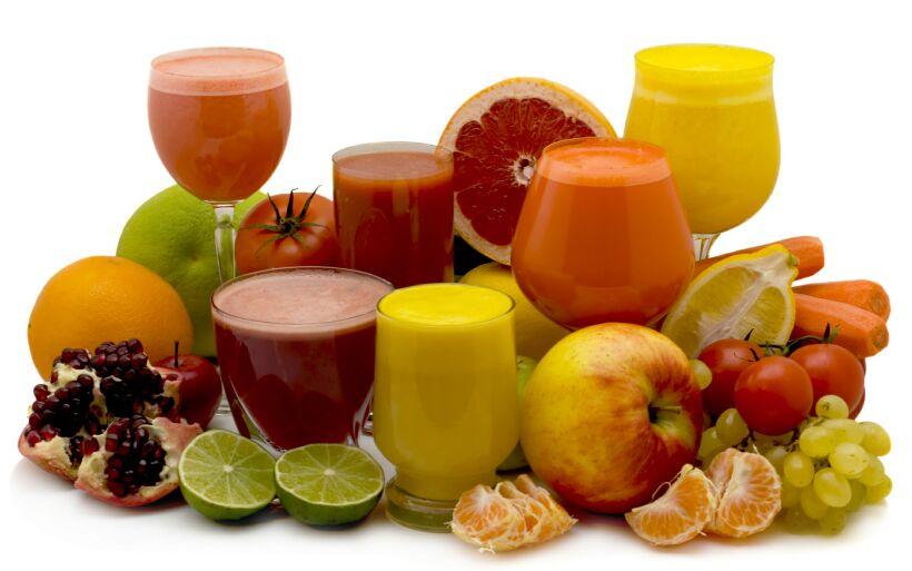 Один из методов чистки предлагает использовать натуральные соки