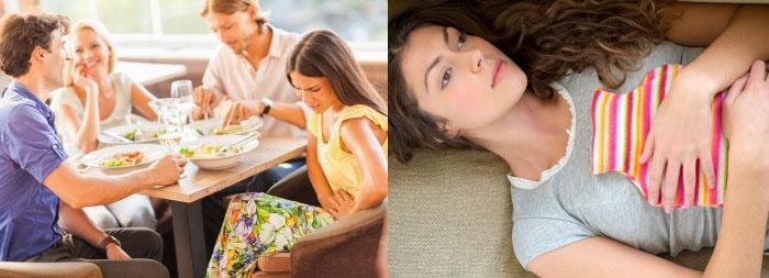 У больного возникает дискомфорт после приема больных