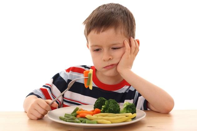 Больной ребенок плохо ест