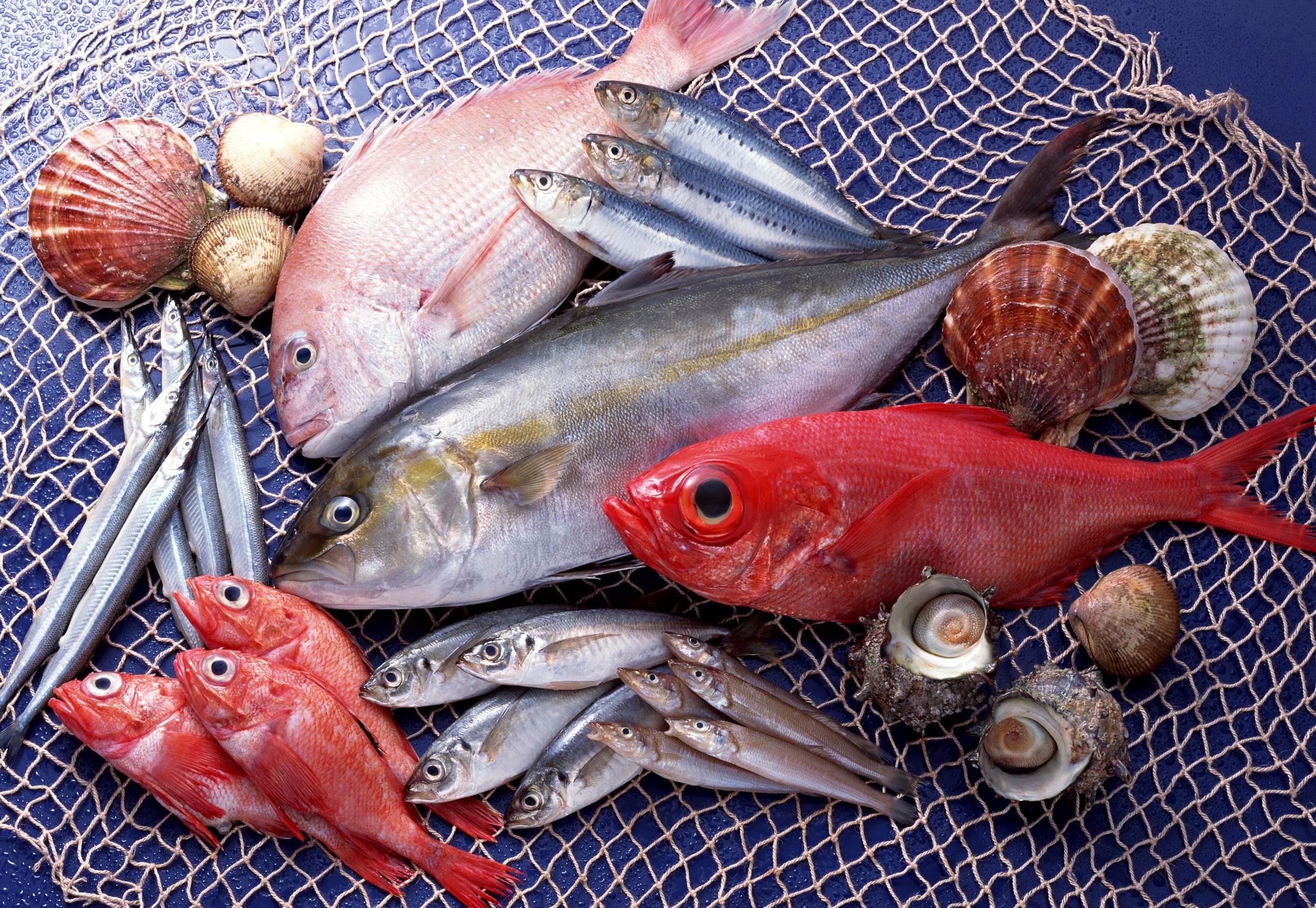 Рыба нежирная свежая